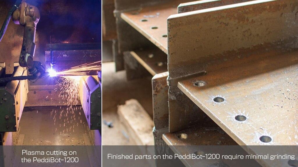 peddibot-1200 plasma cutting