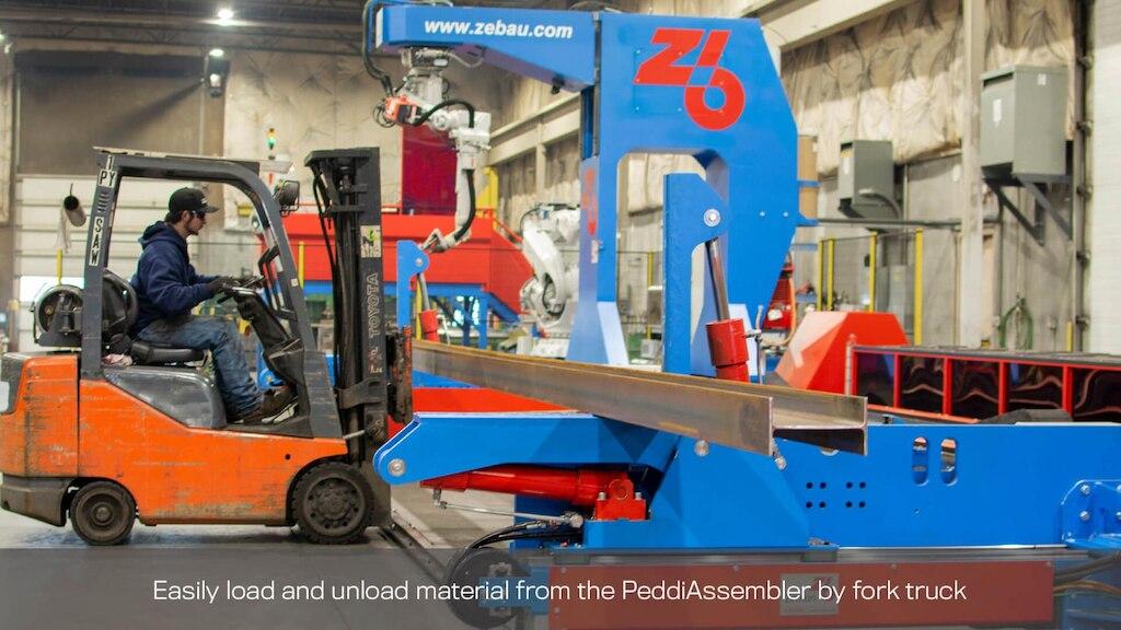 load peddiassembler by fork truck