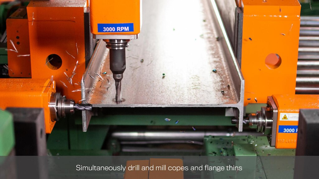 simultaneously drill and mill copes